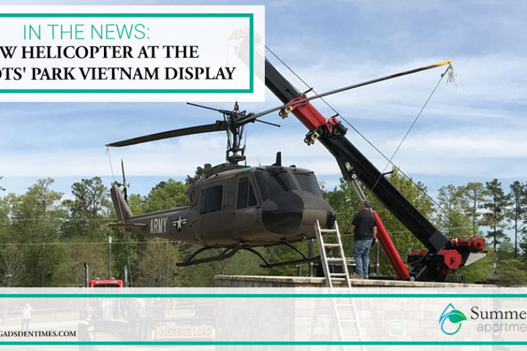 In the News: New Helicopter at the Patriots' Park Vietnam Display